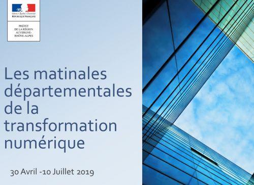 Les Matinales départementales de la transformation numérique